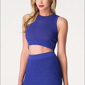 Nwt Bebe purple knit crop tank top
